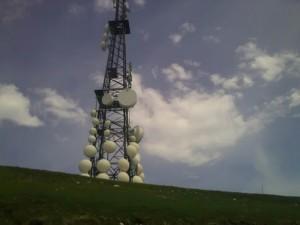 Le antenne del col Visentin, km 60 circa